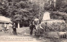 Cpa  06  Turini , Douanier En Faction A La Fontaine Commemorative Du Colonel Wagner - Douane