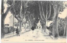 Cpa Vaison Avenue De La Gare. Sous Pochette Plastique - Vaison La Romaine