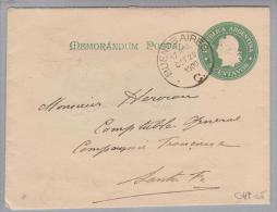 Argentinien 1900-10-29 Ganzsache 5Cent Grün Bild + 100 Reis - Entiers Postaux
