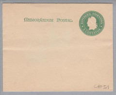 Argentinien 1900 Ganzsache 5 Cent Grün Bild + 100 Reis - Entiers Postaux