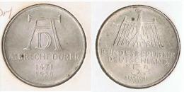 ALEMANIA 5 DEUTSCHE MARK D 1971 DURERO PLATA SILVER G1 - [ 6] 1949-1990 : RDA - Rep. Dem. Alemana