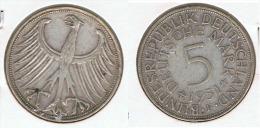 ALEMANIA 5 DEUTSCHE MARK F 1951 PLATA SILVER G1 - [ 6] 1949-1990 : RDA - Rep. Dem. Alemana