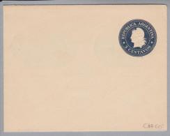 Argentinien 1901 Ganzsache Ungebr. 5Cent Blau Bildzudr. - Entiers Postaux