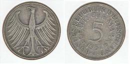 ALEMANIA 5 DEUTSCHE MARK J 1951 PLATA SILVER G1 - [ 6] 1949-1990 : RDA - Rep. Dem. Alemana
