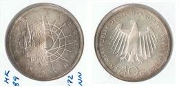 ALEMANIA 10 DEUTSCHE MARK D BONN 1989 PLATA SILVER G1 - [ 6] 1949-1990 : RDA - Rep. Dem. Alemana