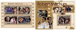 GUINEA BISSAU 2010 - Robert Michum, Cinema - Mi 5195-8 + B891, YT 3709-12 + BF609 - Film