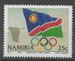 Namibia 1992 - Giochi Olimpici Olympic Games Bandiera Flag MNH ** - Namibia (1990- ...)
