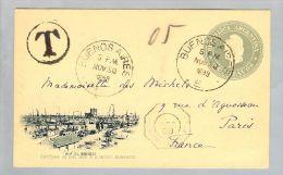 Argentinien 1899-11-30 Bildpostkarte Nach France  Taxiert! - Entiers Postaux