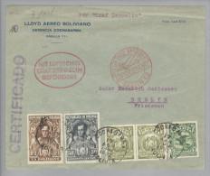 Bolivien 1932-04-17 Cochab Zeppelin Auflieferung Nach Berlin - Bolivie