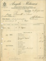 FACTURE LETTRE : MILANO . ANGELO MILANESI . 1913 . - Italia