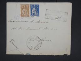 PORTUGAL - Enveloppe En Recommandée Pour Le Havre En 1918 Avec Censure - Aff Bicolore - à Voir - Lot P7566 - 1910-... République