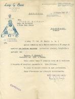 FACTURE LETTRE : ESPRESSO . LUIGI G. BROSI . 1937 . - Italie