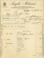 FACTURE LETTRE : MILANO . ANGELO MILANESI . 1919 . - Italie