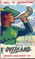 Brochure Toerisme Tourisme - Overland Tours - Coach Holidays 1960 - Dépliants Touristiques