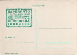 Hungary Esperanto Ekspozicio Oroshaza Hungario 1957 Cartolina - Esperanto