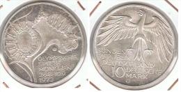 ALEMANIA 10 DEUTSCHE MARK G ESTADIO 1972 PLATA SILVER G1 - [ 6] 1949-1990 : RDA - Rep. Dem. Alemana