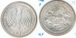 ALEMANIA 10 DEUTSCHE MARK G UNION EUROPEA 1987 PLATA SILVER G1 - [ 6] 1949-1990 : RDA - Rep. Dem. Alemana