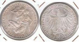 ALEMANIA 10 DEUTSCHE MARK J ATLETAS 1972 PLATA SILVER G1 - [ 6] 1949-1990 : RDA - Rep. Dem. Alemana