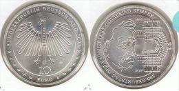 ALEMANIA 10 EURO SEMPER 2003 G PLATA SILVER - [ 6] 1949-1990 : RDA - Rep. Dem. Alemana