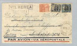 Brasilien P.Alegro T929-08-16 Luftpost Paris-Santigny - Poste Aérienne