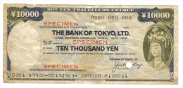 The Bank Of Tokyo Specimen 10000 Yen Travellers Cheque LOTTO 1042 - Japan