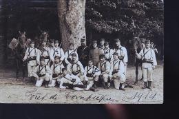 COMPIEGNE FORET 1914 LE 34 EME REGIEMNT    CARTE PHOTO ORIGINALE - Compiegne