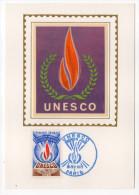 1971--Carte Maximum-Soie--UNESCO --cachet PARIS--75 - Cartes-Maximum