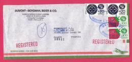A160A, Lettre 116, Enveloppe Recommandé Registred Mexique Mexico - Mexico