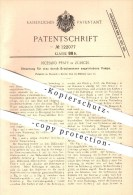Original Patent - Richard Pfaff In Zürich , 1900 , Steuerung Für Pumpe , Pumpen , Druckwasser , Druck , Wasser !!! - Documents Historiques