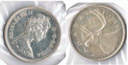 CANADA 25 CENTS  DOLLAR 1966 PLATA SILVER G1 - Canada