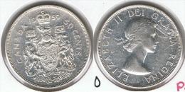 CANADA 50 CENTS  DOLLAR 1959 PLATA SILVER G1 - Canada
