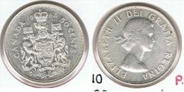 CANADA 50 CENTS  DOLLAR 1962 PLATA SILVER G1 - Canada