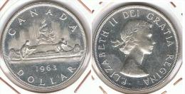 CANADA DOLLAR 1963 CANOA PLATA SILVER G1 - Canada