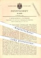 Original Patent - F. Anton Hubbuch In Furtwangen , 1884 , Figurenuhr , Uhr , Uhren , Uhrmacher , Uhrwerk !!! - Historische Dokumente