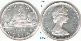 CANADA DOLLAR 1966 CANOA PLATA SILVER G1 - Canada