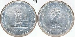 CANADA DOLLAR 1977 TRONO PLATA SILVER G1 - Canada