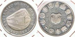 COLOMBIA 10000 PESOS DOS MUNDOS 1991 PLATA SILVER G1 - Colombia