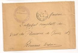 DECINES CHARPIEU Isère, Détachement De Prisonnier De Guerre Sur Enveloppe En Franchise. - Marcophilie (Lettres)