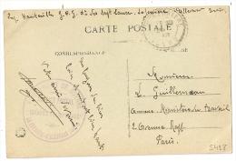 LA FERRIERE D'ALLEVARD, Isère. Prisonniers De Guerre. Chantier Des SEPT LAUX Sur CP En Franchise. - Marcophilie (Lettres)
