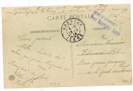 DEPOT D' OFFICIERS P.G, FORT BARRAUX, Isère , PRISONNIERS DE GUERRE Sur Enveloppe En Franchise. - Marcophilie (Lettres)