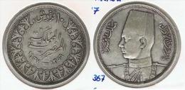 EGIPTO 10  PIASTRAS  1937 PLATA SILVER G1 - Egipto