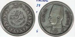 EGIPTO 10  PIASTRAS  1939 PLATA SILVER G1 - Egipto
