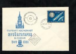 Bulgaria1961 FDC Space (B018) - FDC