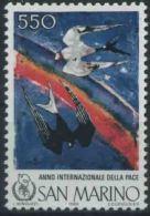 1986 San Marino, Anno Internazionale Della Pace , Serie Completa Nuova (**) AL FACCIALE - Neufs