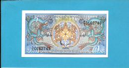 BHUTAN - 1 Ngultrum -  ND ( 1986 ) - Pick 12 - Sign. 3 - Serie A/4 - UNC. - Royal Monetary Authority Of Bhutan - 2 Scans - Bhoutan