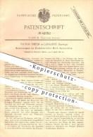 Original Patent - Victor Thélin In Lausanne , Schweiz , 1887 , Messung Der Elektrizität , Strom , Wechselstrom !!! - Documents Historiques