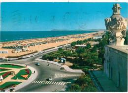 # CARTOLINA EMILIA ROMAGNA RIMINI PANORAMA DELLA SPIAGGIA VIAGGIATA 1963 VERSO TORINO  – INDIRIZZO OSCURATO PER PRIVACY - Rimini