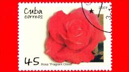 CUBA - Nuovo Oblit. - 2007 - Fiori - Rose - Fragrant Cloud - 45 - Cuba