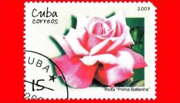 CUBA - Nuovo Oblit. - 2007 - Fiori - Rose - Prima Ballerina - 15 - Cuba