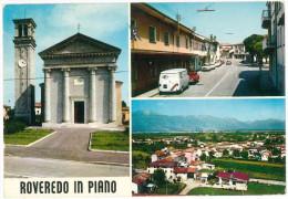 # CARTOLINA FRIULI VENEZIA GIULIA ROVEREDO IN PIANO 3 VEDUTINE  VIAGGIATA 1972 VERSO SETTIMO MILANESE  – INDIRIZZO OSCUR - Italia